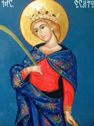 25 noiembrie: Sfânta Muceniță Ecaterina. O părticică din moaștele acesteia se află la Biserica Colțea din București